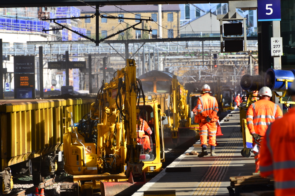 Engineering Work taking place at London King's Cross